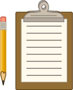 checklist with pencil