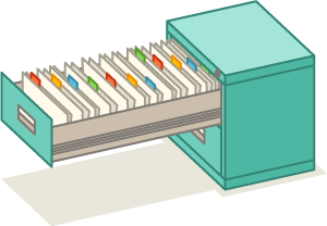 open file cabinet