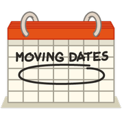 calendar with moving dates
