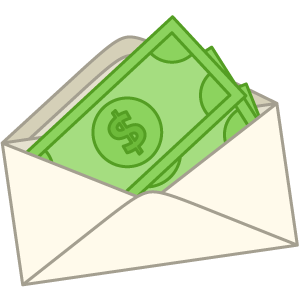money in an envelope