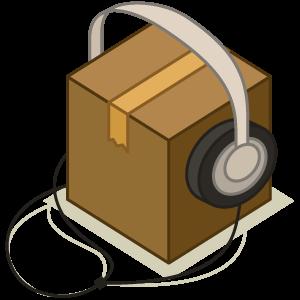 box with headphones